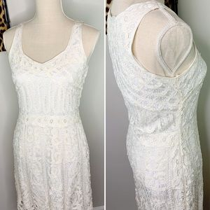 VTG Kroshetta by Papillion White Lace Dress
